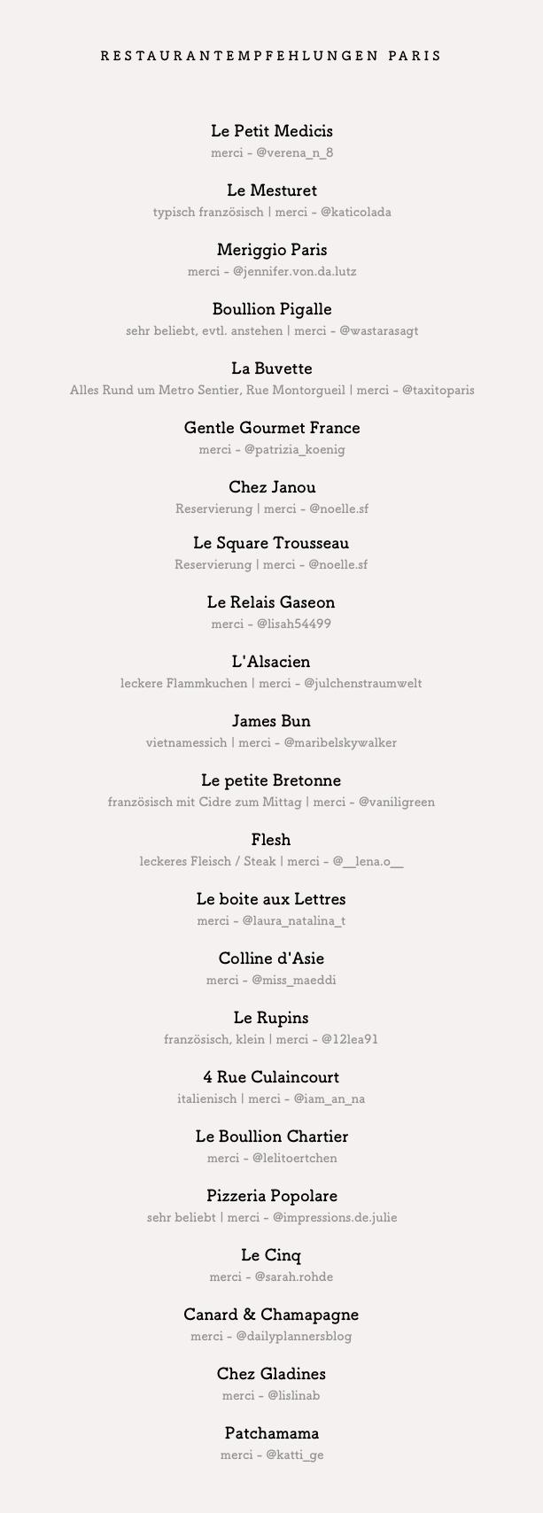 PARIS Regen Tipps | Cafés, Restaurants, Shopping & Baguette