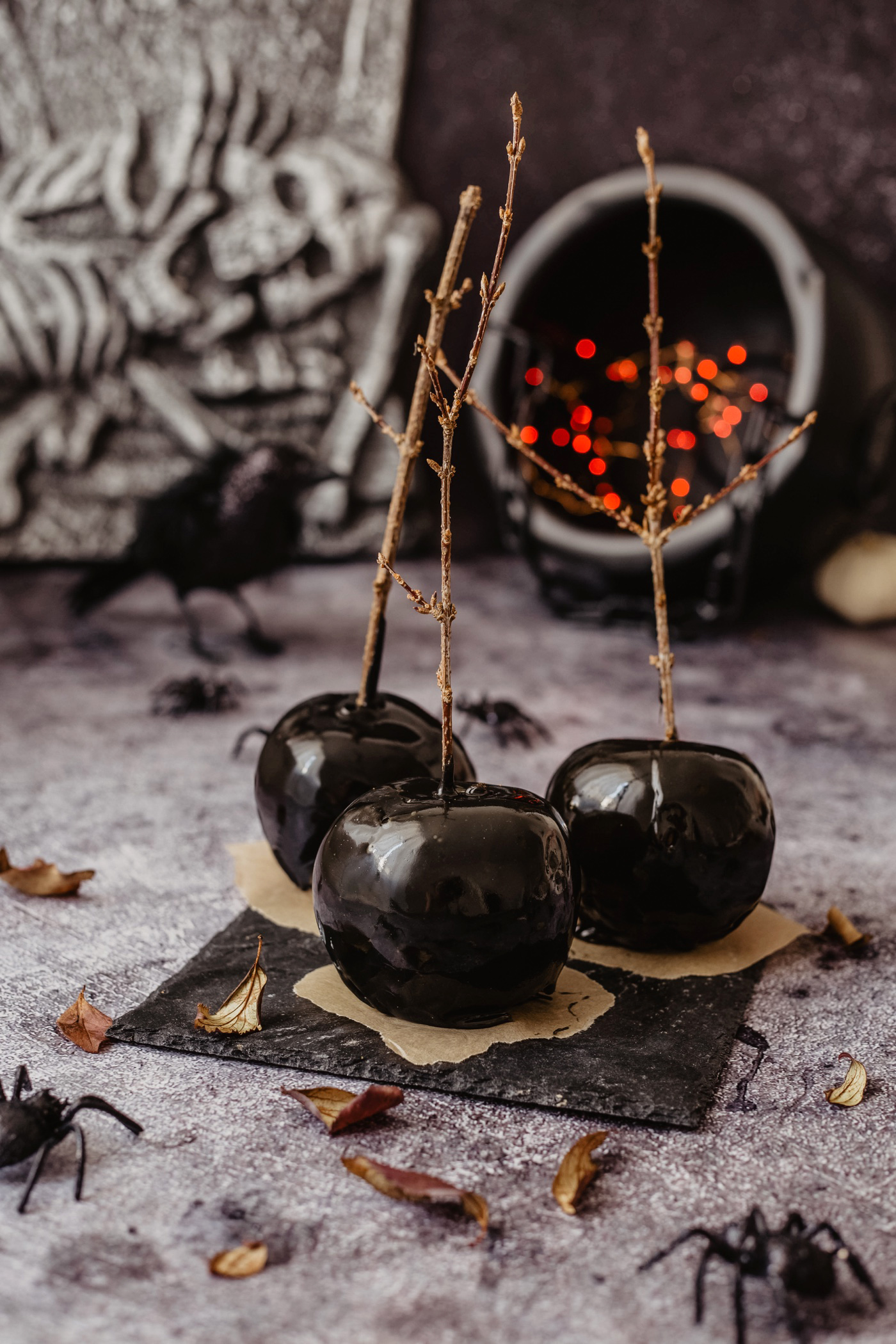 schneewittchen deko apfel schwarz halloween rezept