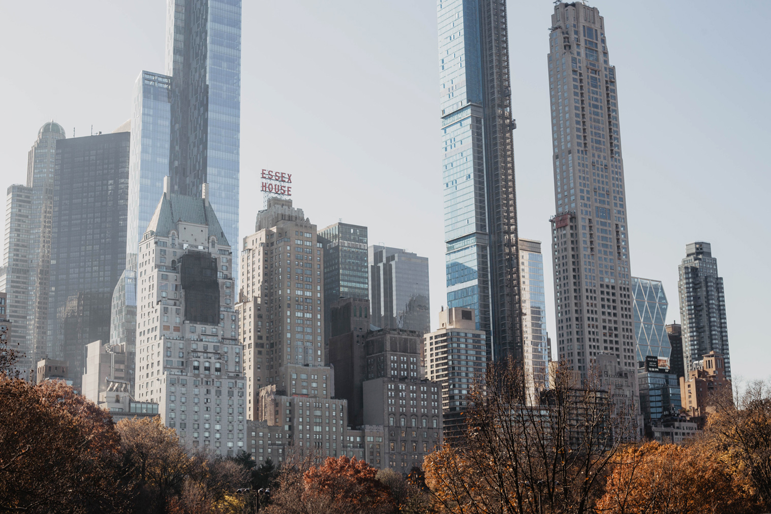 new york manhattan hochhaeuser central park