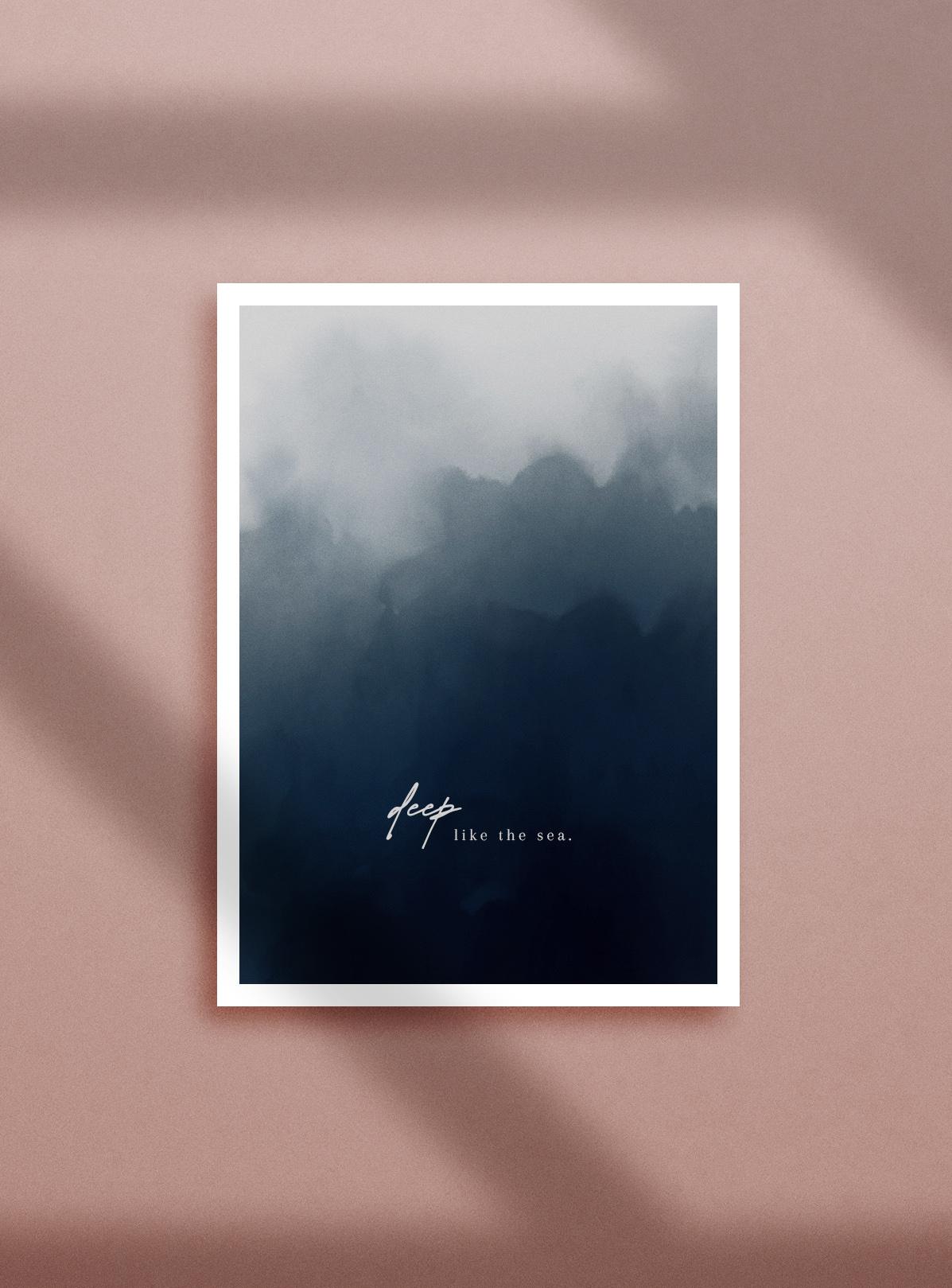 aquarell abstrakt poster zitat