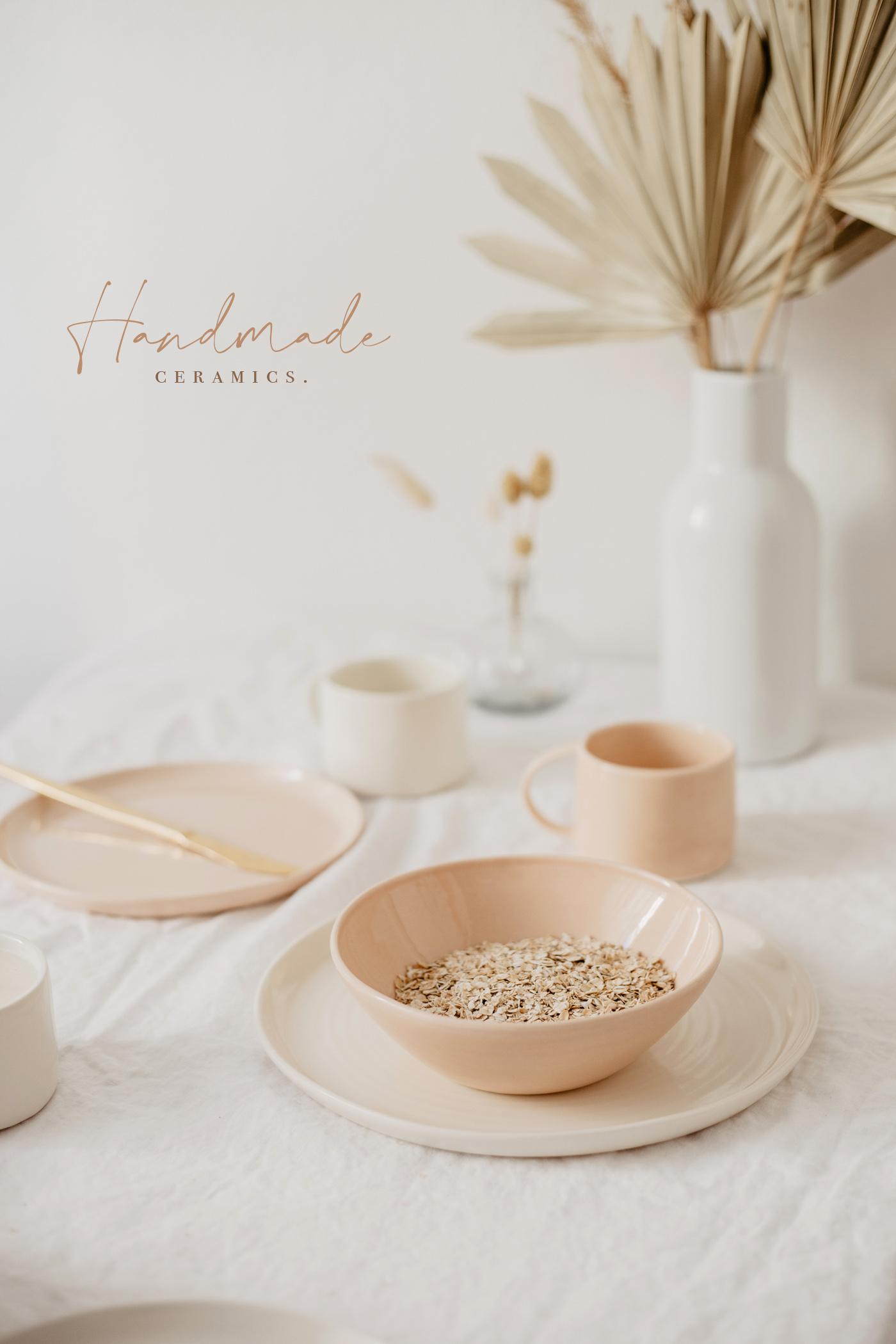 handmade keramik rosa skandinavisch
