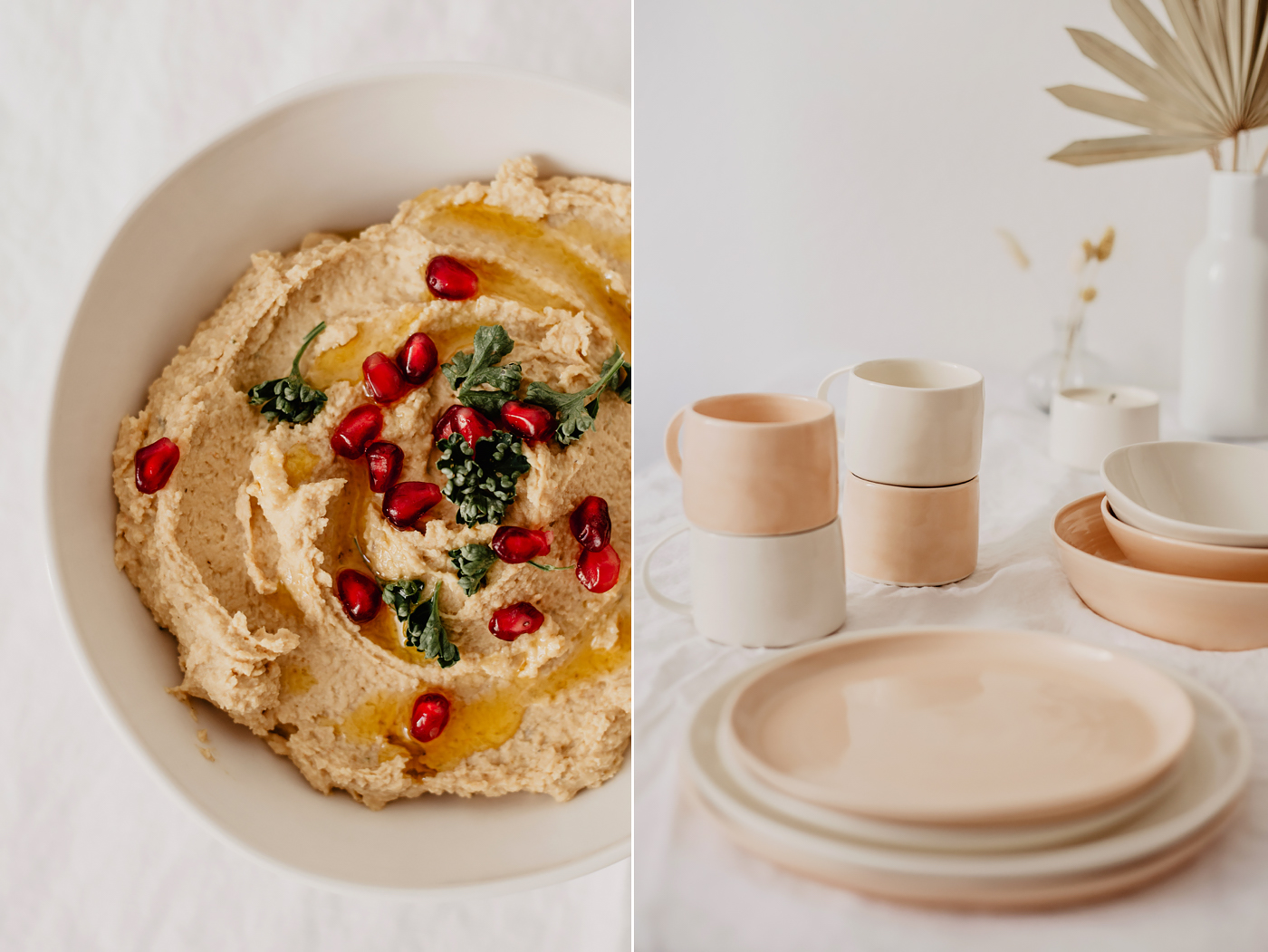 hummus rezept handgemachte keramik