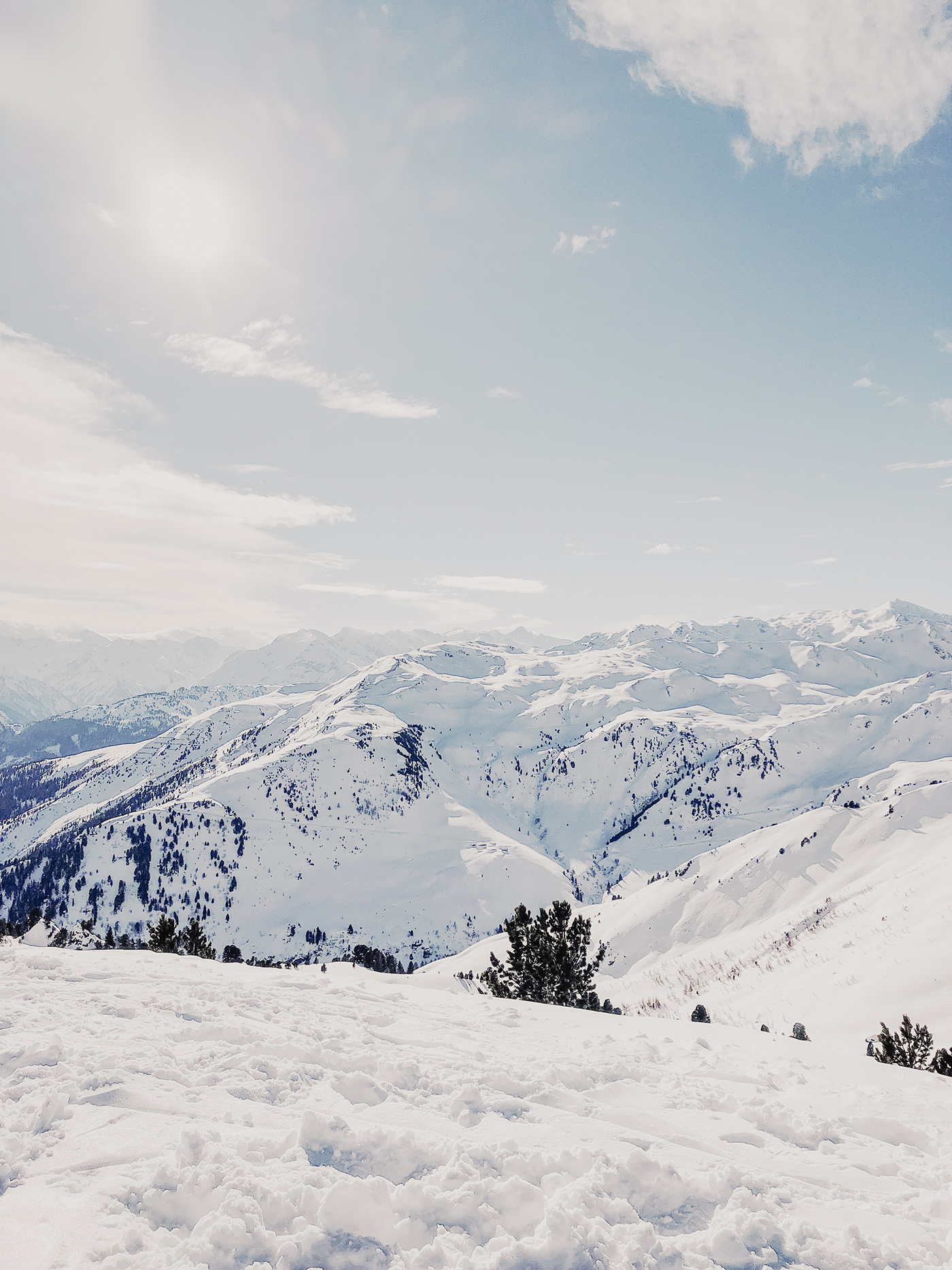 zillertal berge aussicht