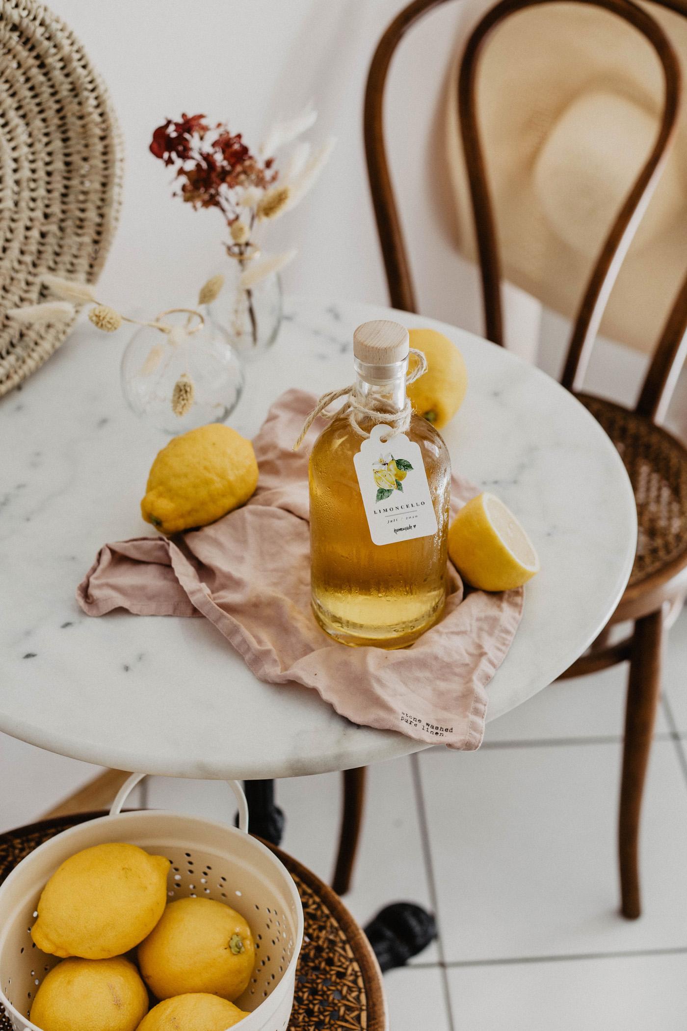 zitronen limoncello rezept
